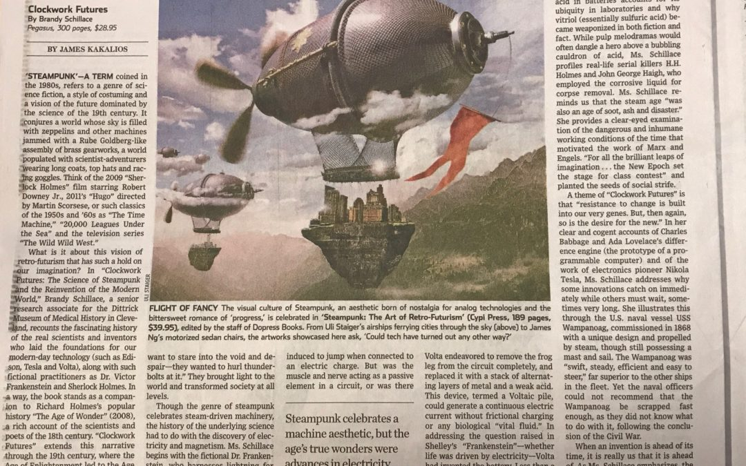 Clockwork Futures reviewed in Wall Street Journal