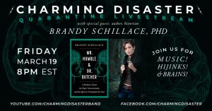 Poster features Brandy and advertises the event with Charming Disaster